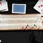 Standard cribbage boards. 2,3,4 player with pegs. made from maple with walnut trim.